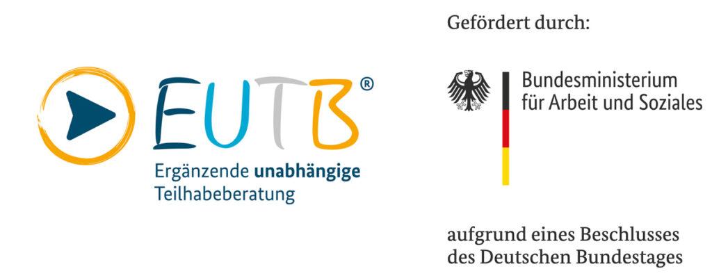 EUTB Logo mit Förderung des Bundesministeriums für Arbeit und Soziales