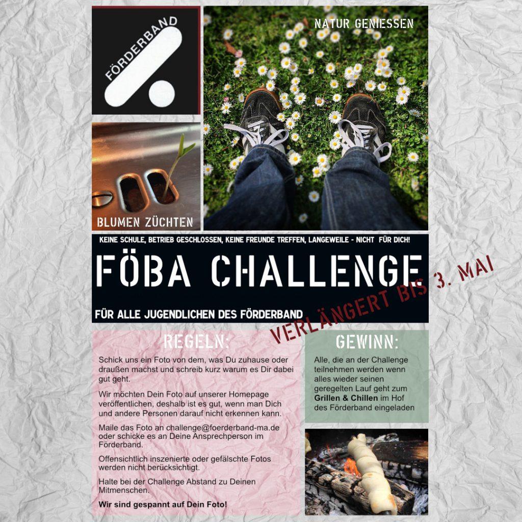 Infoplakat zum FÖBACHALLENGE Fotowettbewerb